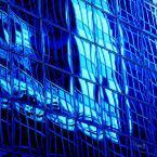 7-Bleu intense verre reflet