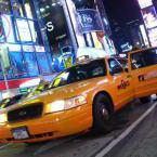 Taxi jaune dans new york