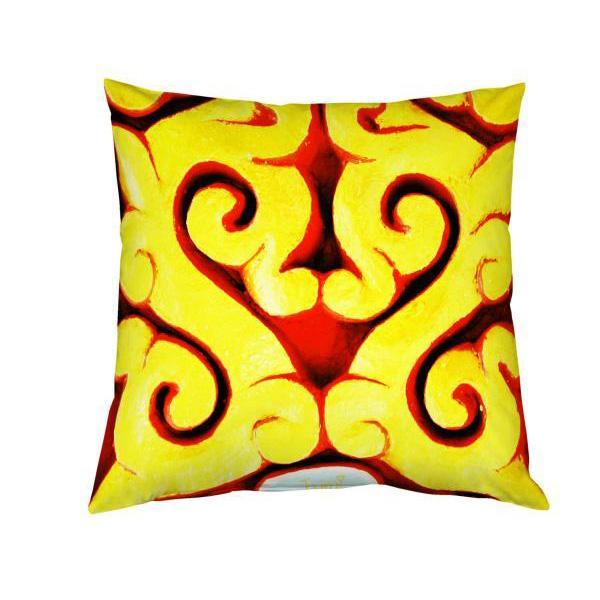 Impression coussin motif asiatique