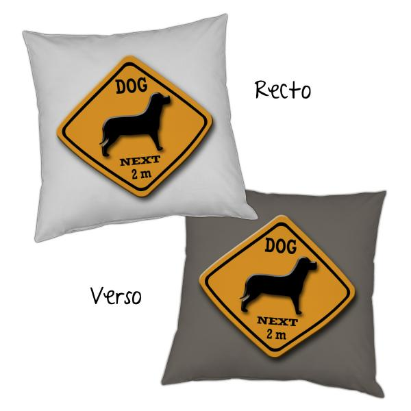 Coussin roadsign Chien