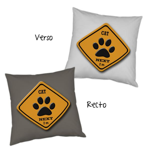 Coussin road sign patte de chat