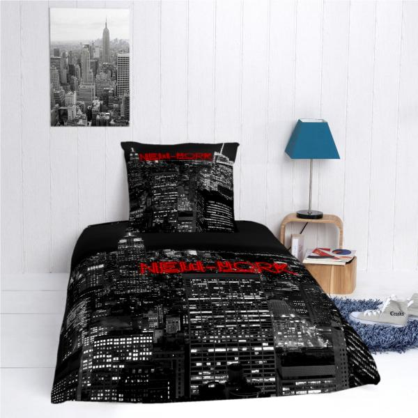 housse de couette nyc personnalis e decodeo. Black Bedroom Furniture Sets. Home Design Ideas