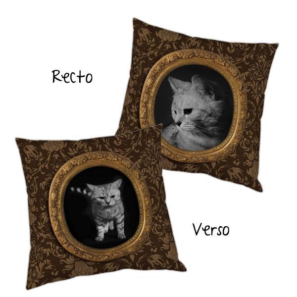 Coussin le chaton tapisserie (aussi)