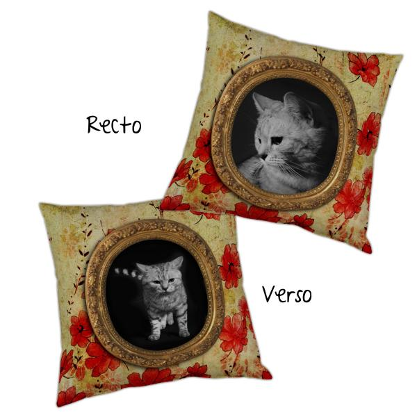 Coussin le chaton baroque