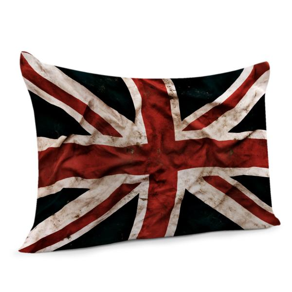 coussin drapeau anglais vintage decodeo. Black Bedroom Furniture Sets. Home Design Ideas