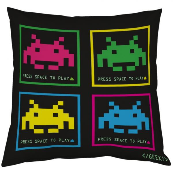 Coussin Geek - Space invaders