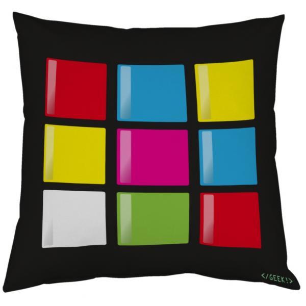 Coussin Geek - Le cube en 2D