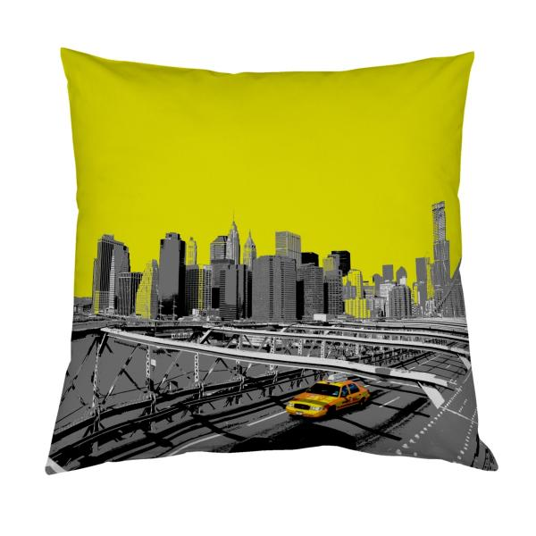 Coussin new-york jaune
