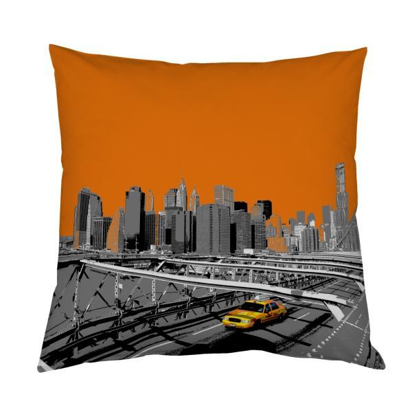 Coussin new-york orange