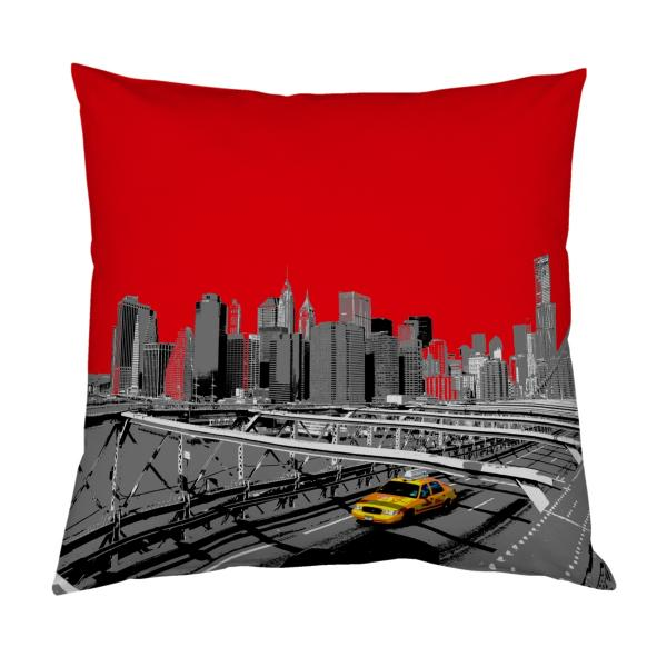 Coussin new-york rouge