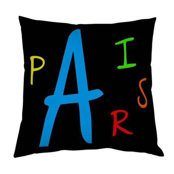 Coussin Paris en couleur