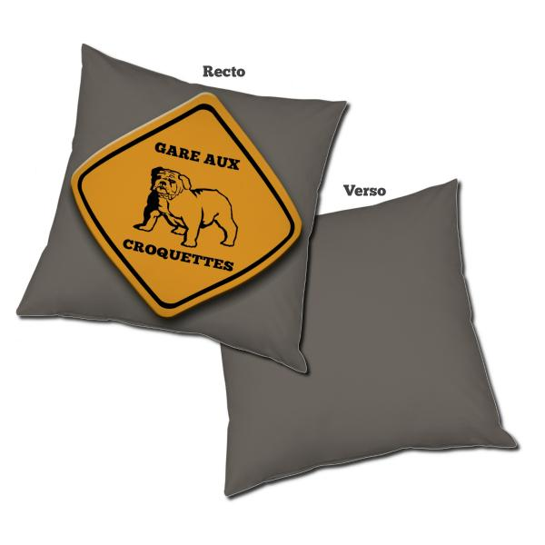Coussin road sign Dog