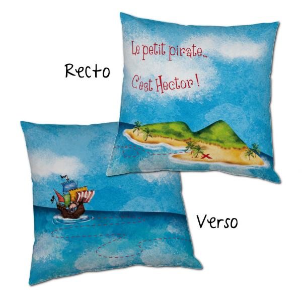 coussin pirate personnalisable decodeo. Black Bedroom Furniture Sets. Home Design Ideas