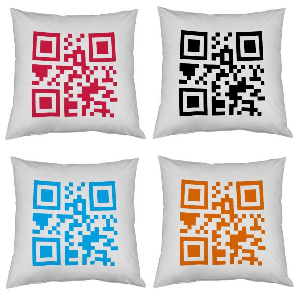 coussin qr code personnalisable decodeo. Black Bedroom Furniture Sets. Home Design Ideas
