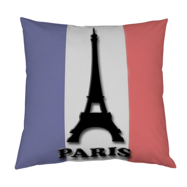Coussin Tour Eiffel et drapeau