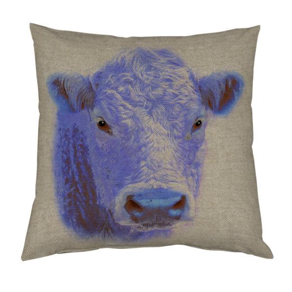 Coussin vache façon pop art