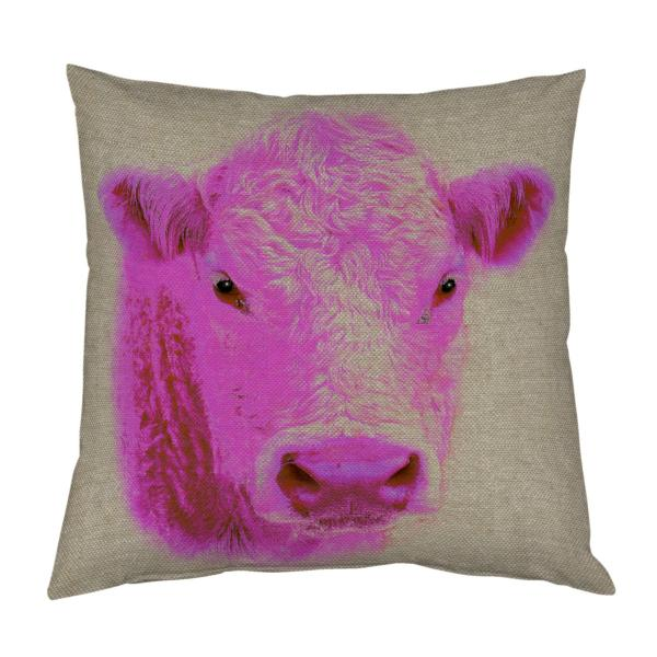 Coussin-vache-rose-lin