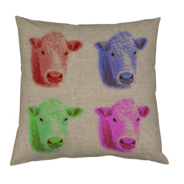 Coussin pop art vache