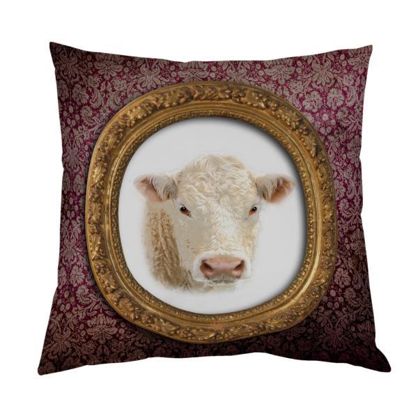 Coussin Vache tapisserie