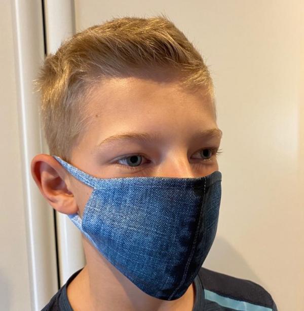 Masque en tissu lavable et réutilisable DENIM
