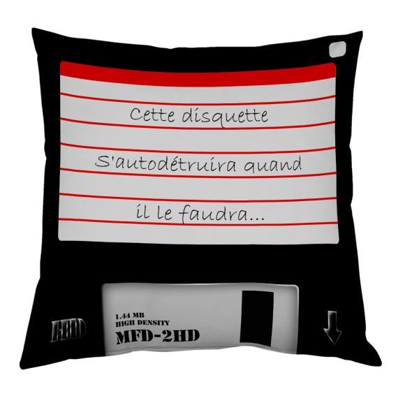 Coussin disquette personnalisable