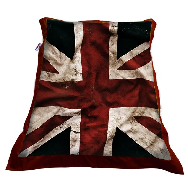 Maxi Pouf Drapeau Anglais Fond Rouge Decodeo Interesting Pouf En Anglais