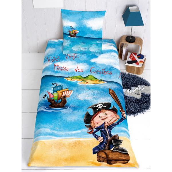 housse de couette pirate personnalisable decodeo
