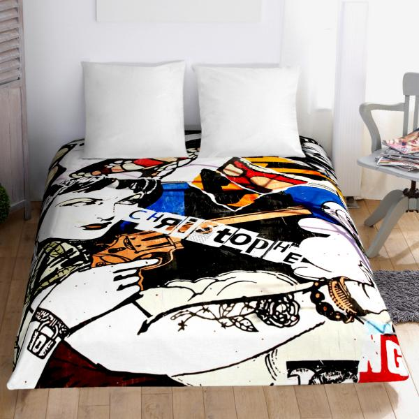 Couette graffiti decodeo for Housse de couette originale