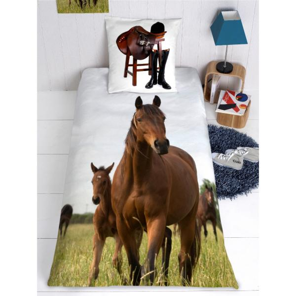housse de couette chevaux. Black Bedroom Furniture Sets. Home Design Ideas