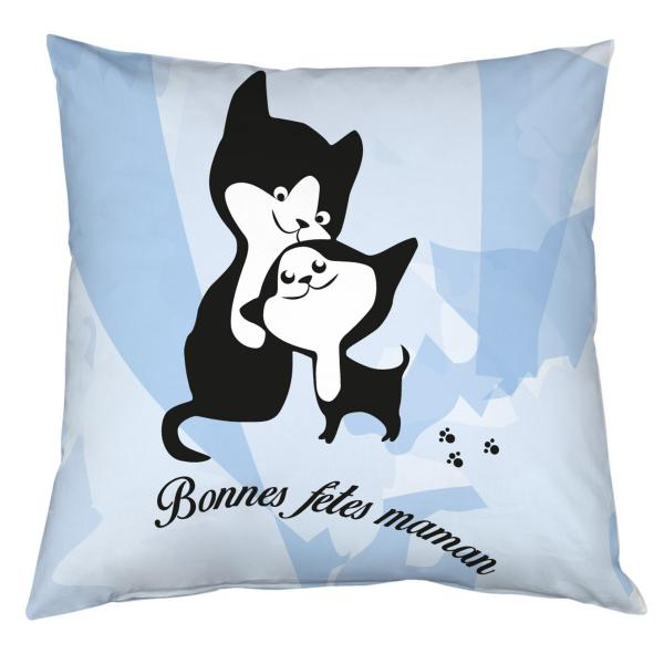 Coussin chats câlin personnalisable