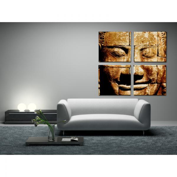 Toile 4 en 1 Bouddha en Mosaïque
