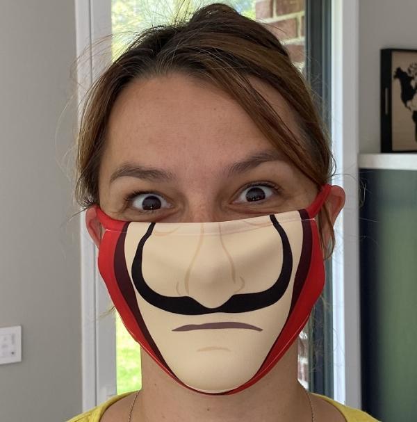Masque en tissu lavable et réutilisable CASA DE PAPEL