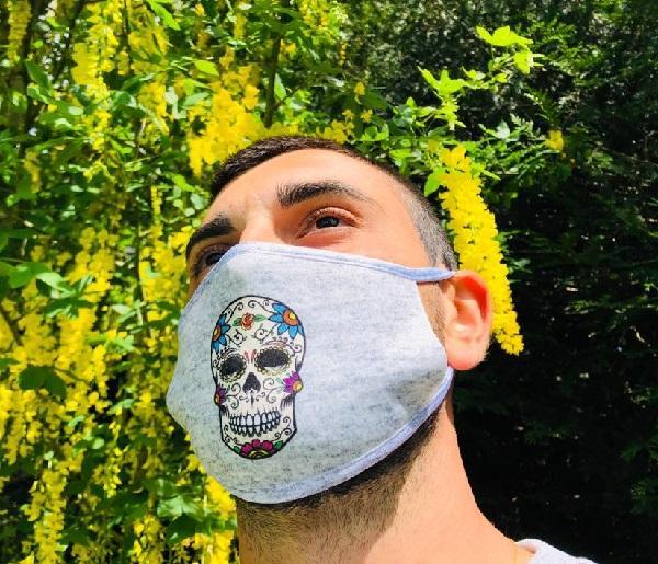 Masque en tissu lavable et réutilisable DIA DE LOS MUERTOS