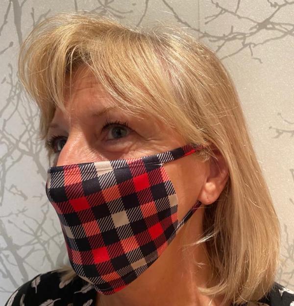 Masque en tissu lavable et réutilisable LUMBERJACK ROUGE