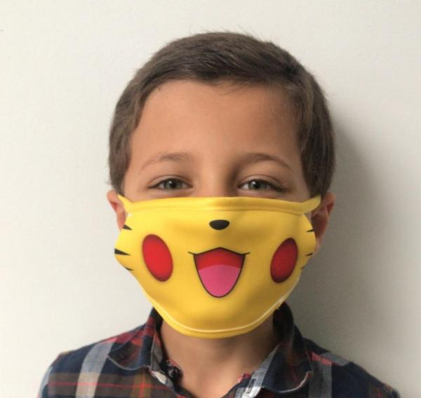 Masque en tissu lavable et réutilisable POKEMASK