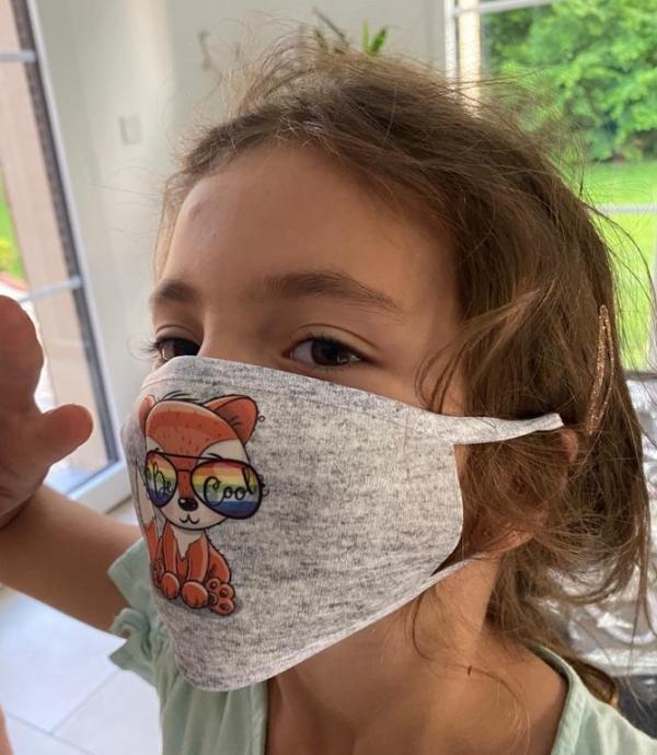 Masque en tissu lavable et réutilisable renard be cool