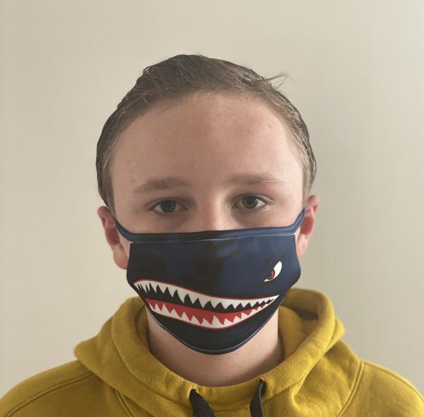 Masque en tissu lavable et réutilisable SHARK MARINE