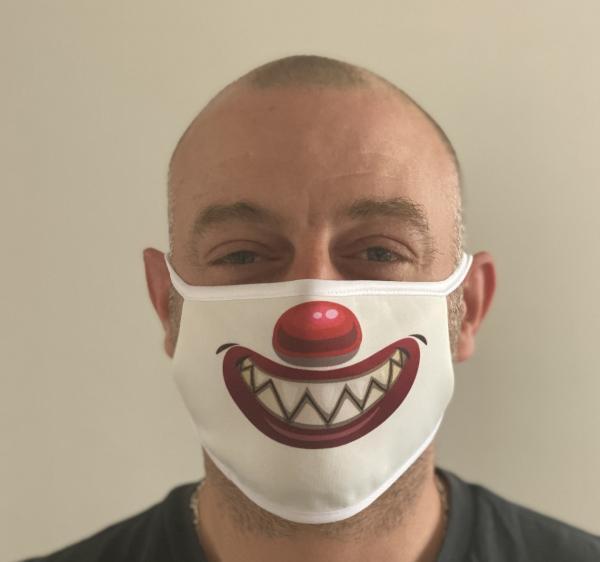 Masque en tissu lavable et réutilisable SOURIRE CLOWN