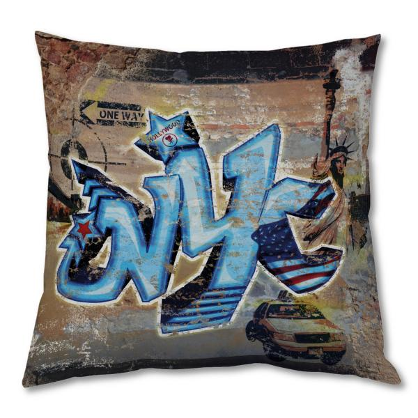 Coussin New-York Graffiti