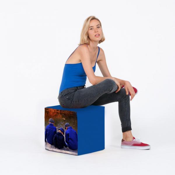 Coussin - Pouf cube personnalisé 2 faces