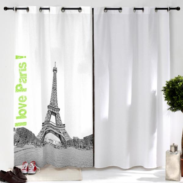 Rideau Tour Eiffel personnalisé