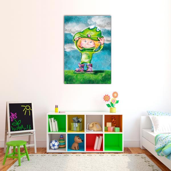 Tableau photo illustration enfant