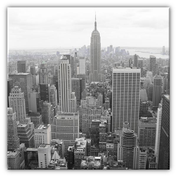 Tableau photo new york noir et blanc decodeo - Tableau noir et blanc new york ...