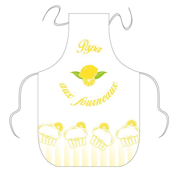 Tablier gâteaux citrons personnalisable
