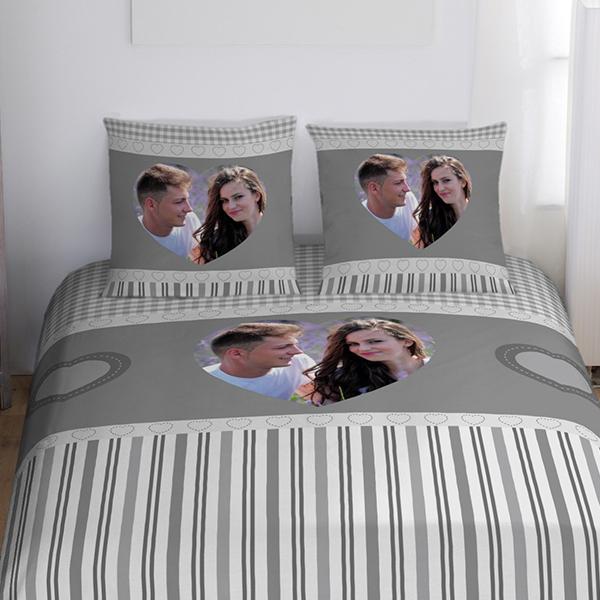 Taie d'oreiller personnalisable avec photo