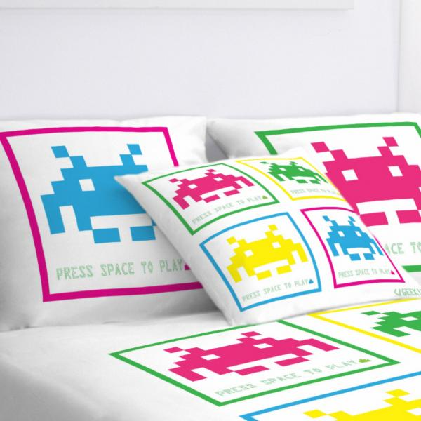 Taie d'oreiller Space Invaders