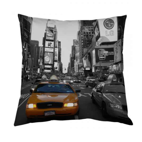 coussin new york taxi jaune decodeo. Black Bedroom Furniture Sets. Home Design Ideas