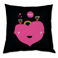 Coussin rose amour