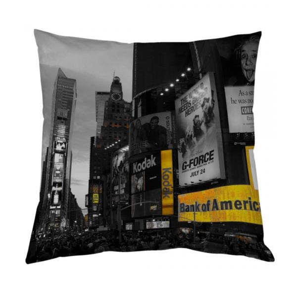 Coussin bicolore New-York Time Square