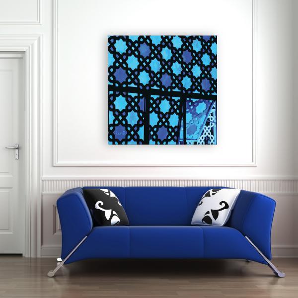 Petit Salon Marocain Bleu Nuit ~ Idées de Design Maison et Idées de ...